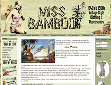 Tablet Preview of missbamboo.co.uk